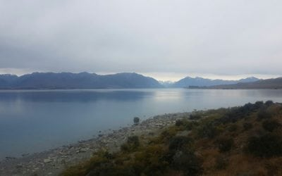 Views of lake Tekapo from the tent