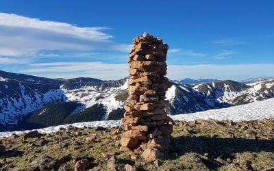 Low in energy, but I still climbed off trail to see the cairn and its views